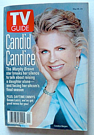 Tv Guide-may 18-24, 1996-candice Bergen