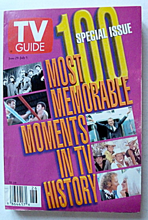 Tv Guide-june 29-july 5, 1996-most Memorable Moments