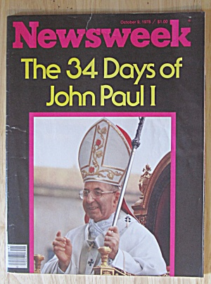 Newsweek Magazine October 9, 1978 34 Days Of John Paul