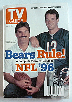 Tv Guide-august 31-september 6, 1996-dave Wannstedt