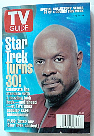Tv Guide-august 24-30, 1996-avery Brooks