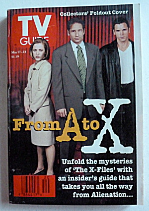 Tv Guide-may 17-23, 1997-from A To X (X-files)