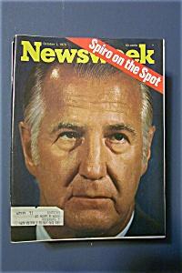 Newsweek Magazine - October 1, 1973 - Spiro On The Spot (Image1)