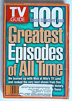 Tv Guide-june 28-july 4, 1997-100 Greatest Episodes