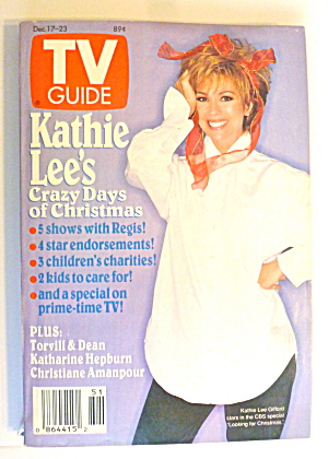 Tv Guide-december 17-23, 1994-kathie Lee Gifford