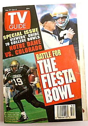 TV Guide-December 31, 1994-January 6, 1995-Fiesta Bowl (Image1)