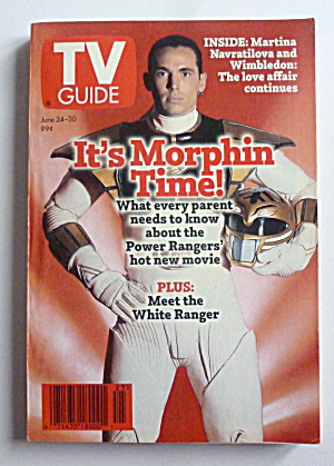 Tv Guide-june 24-30, 1995-it's Morphin Time