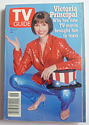 Tv Guide-july 1-7, 1995-victoria Principal