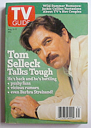 Tv Guide-august 5-11, 1995-tom Selleck