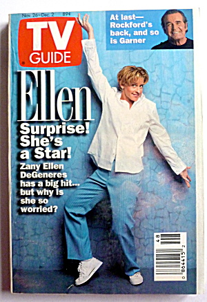 Tv Guide-november 26-december 2, 1994-ellen Degeneres
