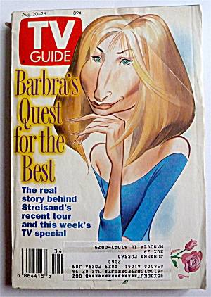 Tv Guide-august 20-26, 1994-barbra Streisand