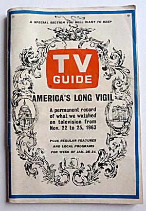 Tv Guide-january 25-31, 1964-america's Long Vigil