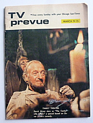 Tv Prevue-march 9-15, 1975-david Niven
