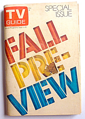 Tv Guide-september 6-12, 1975-fall Preview
