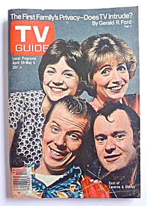 Tv Guide-april 29-may 5, 1978-laverne & Shirley