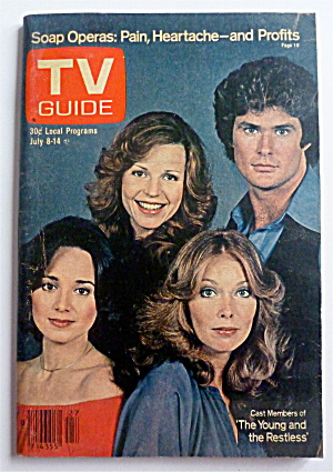 Tv Guide-july 8-14, 1978-young & The Restless