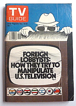 Tv Guide-november 18-24, 1978-foreign Lobbyists