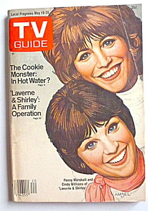 Tv Guide-may 19-25, 1979-laverne & Shirley