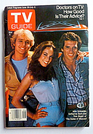 Tv Guide-june 30-july 6, 1979-dukes Of Hazzard