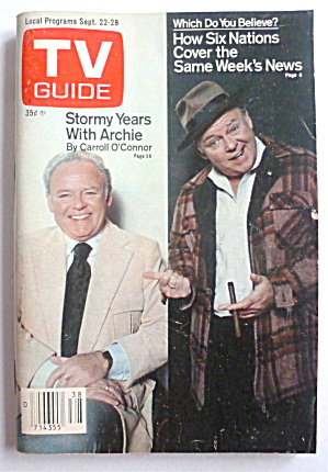 Tv Guide-september 22-28, 1979-carroll O'connor