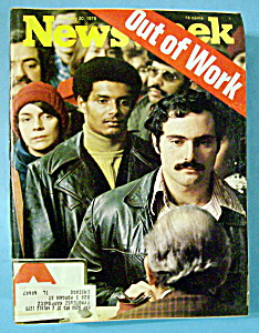 Newsweek Magazine - January 20, 1975 - Out Of Work