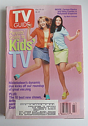 Tv Guide-october 25-31, 1997-kids' Tv