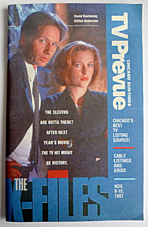 Tv Prevue-november 9-15, 1997-the X-files