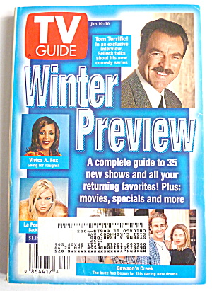 Tv Guide-january 10-16, 1998-winter Preview