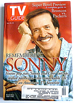 Tv Guide-january 24-30, 1998-sonny Bono