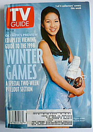 Tv Guide-february 7-13, 1998-michelle Kwan