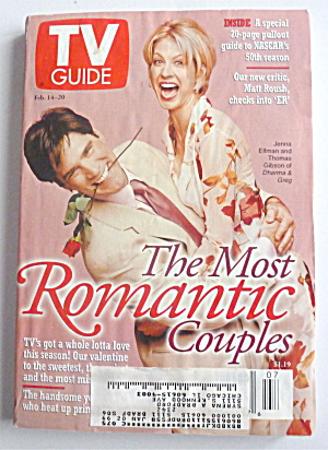 Tv Guide-february 14-20, 1998-most Romantic Couples