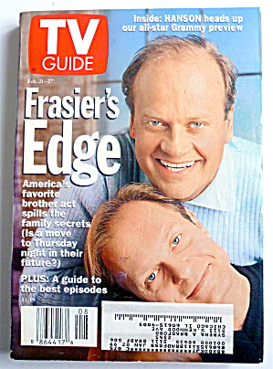 TV Guide-February 21-27, 1998-Frasier's Edge  (Image1)