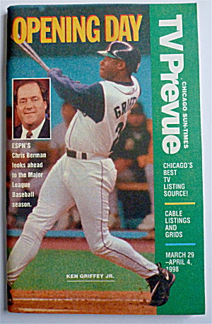 Tv Prevue-march 29-april 4, 1998-ken Griffey Jr