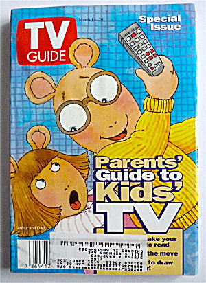 Tv Guide-march 14-20, 1998-parents Guide To Kids Tv