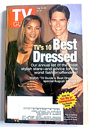 Tv Guide-august 22-28, 1998-tv's 10 Best Dressed