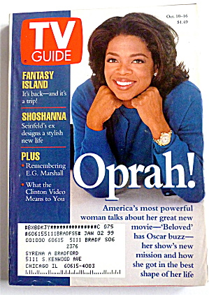 Tv Guide-october 10-16, 1998-oprah Winfrey