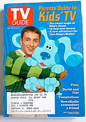 Tv Guide-october 31-november 6, 1998-blue's Clues