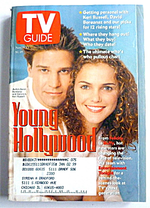 Tv Guide-november 7-13, 1998-young Hollywood