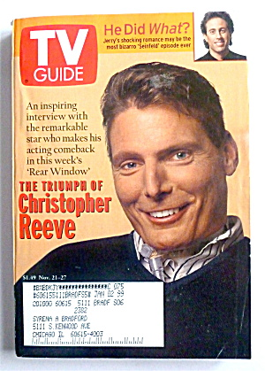 Tv Guide-november 21-27, 1998-christopher Reeve