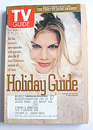 Tv Guide-november 28-december 4, 1998-kristen Johnston