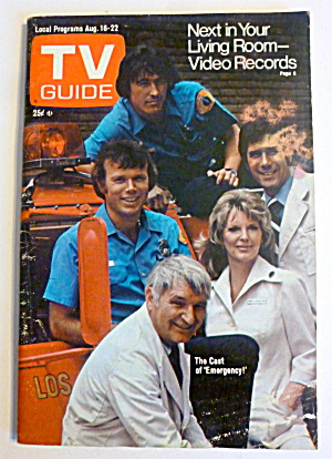 TV Guide-August 16-22, 1975-Cast Of Emergency  (Image1)