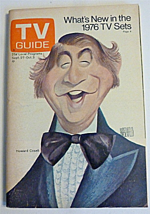 Tv Guide-september 27-october 3, 1975-howard Cosell