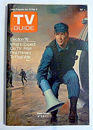 Tv Guide-january 31-february 6, 1976-steve Forrest