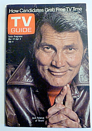 Tv Guide-march 27-april 2, 1976-jack Palance