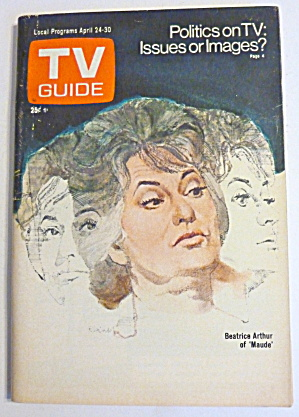 Tv Guide-april 24-30, 1976-beatrice Arthur