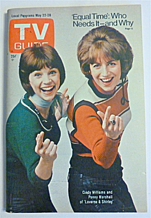 Tv Guide-may 22-28, 1976-laverne & Shirley