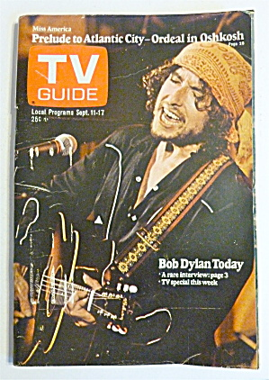 Tv Guide-september 11-17, 1976-bob Dylan Today