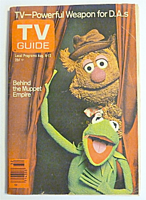 Tv Guide-august 6-12, 1977-behind The Muppet Empire