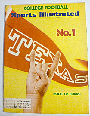 Sports Illustrated Magazine-september 10, 1973-horns