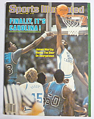 Sports Illustrated Magazine-april 5, 1982-james Worthy